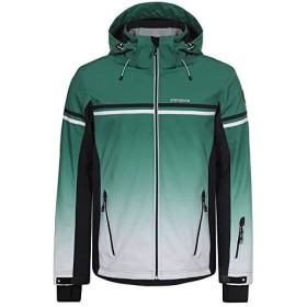 Icepeak Giacca da Sci Uomo Verde Bianco e Blu in Soft Shell